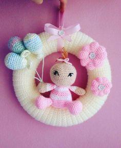 Crochet Baby Toys, Crochet Toys Patterns, Crochet Gifts, Baby Blanket Crochet, Crochet For Kids, Stuffed Toys Patterns, Baby Knitting, Baby Kranz, Free Baby Shower Printables