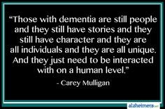Those with Dementia Are Still People #alzheimers #tgen #mindcrowd www.mindcrowd.org