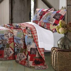 Greenland Home Fashions Rustic Lodge Quilt Set Size: King Quilt Set King Quilt Sets, Queen Quilt, Diy Home, Easy Home Decor, Bed Sets, Primitive Homes, Primitive Country, Twin Quilt, My New Room