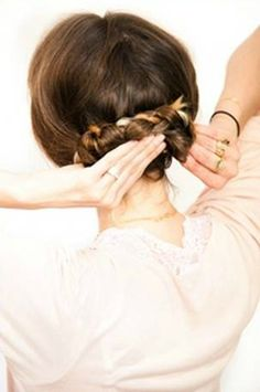 Tutorial: Double Braided Bun - Click the image for the tutorial!