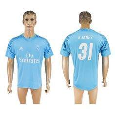 Real Madrid 16-17 R.Yanez 31 Målmand Fodboldtøj Kortærmet.  http://www.fodboldsports.com/real-madrid-16-17-ryanez-31-malmand-fodboldtoj-kortermet.  #fodboldtrøjer