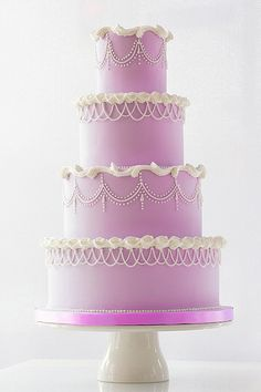 Classic cake in fresh new colors Wedding Cakes With Flowers, Elegant Wedding Cakes, Wedding Cake Designs, Wedding Cake Toppers, Flower Cakes, Cake Wedding, Elegant Cakes, Cupcakes, Cupcake Cakes