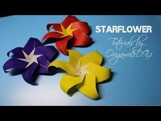 How To Make Origami African Violet (Flower,Stamen, Leaf, Stem) Tutorial By OrigamiPaperCraft - YouTube