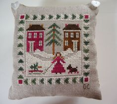 Bringing Home the Tree Little House Needleworks http://crocettando.wordpress.com