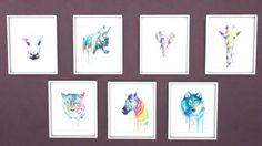 I love these designs!!!! Mysimmysimbl: Animal Watercolor Paintings • Sims 4 Downloads