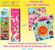 Come check out the Winner's Choice of I See Me! Growth Chart or Who Loves Me? Gift Set #giveaway on my blog! #ISeeMe  Fabulous and Brunette: Winner's Choice of I See Me! Growth Chart or a Who...