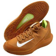 sports shoes 87bb5 fccd2 Nike Court Air Zoom Zero HC Men's Tennis Shoes Brown Racket Racquet  AA8018-200 #Nike