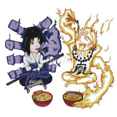 "naruto room decor | 1400+ views】NARUTO: Naruto and Sasuke"" Stickers by Ruo7in ..."