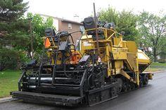 Lafarge 1713016 CAT AP1055D paving machine rear view Ottawa, Ontario Canada 09122008 ©Ian A. McCord