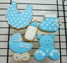 Estrade's cakes: galletas de bautizo, decoradas con glasa