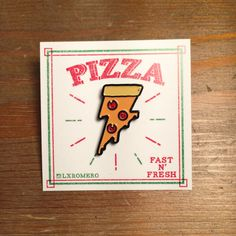 Hey, I found this really awesome Etsy listing at https://www.etsy.com/listing/267735837/lightning-pizza-enamel-pin