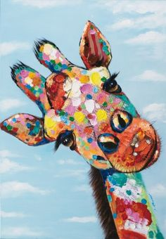 Tableau Girafe POP ART Peinture acrylique - Hobbies paining body for kids and adult Giraffe Painting, Giraffe Art, Diy Painting, Painting Prints, Watercolor Paintings, Canvas Prints, Abstract Paintings, Colorful Paintings, Your Paintings