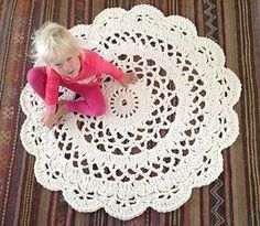 My Giant Crocheted Doily Rug Pattern In Finnish, Matto - Ohje Suomeksi!
