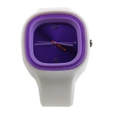 Silicone Jelly Sport Watch ( Purple )