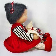 Miyo, will be waiting for her mama, tonight. #etsyseller #handmadewithlove #waldorfdoll