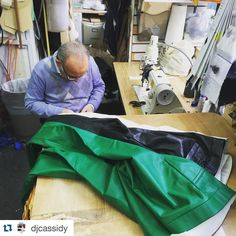 #Repost @djcassidy with @repostapp. ・・・ Custom leather pants are like cars...They need tune ups. But why is it always 12 hours before a flight that I'm rushing my tailor to do them? Here is Pino of @lstailors hard at work on the white.#lstailors #bespoke #custommade #customtailor #menatwork