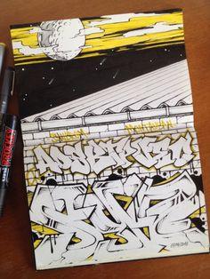 #graffiti #sketch #syndrom #syndromart #montauban #aos #btp #vec #blackbook #2016