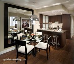 Decoraci n de sala y comedor modernos muebles house for Comedores circulares modernos