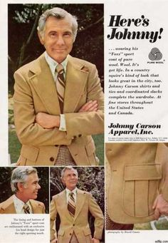 Johnny Carson Apparel 1970s