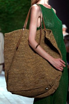 Huge straw bag | Michael Kors | Spring 2011 Ready-to-Wear Collection | Style.com