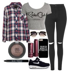 """""""Untitled #1303"""" by mihai-theodora ❤ liked on Polyvore featuring Topshop, Rails, H&M, NIKE and Fresh"""