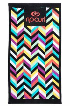 Serviette de plage Rip Curl multicolore avec coussin amovible