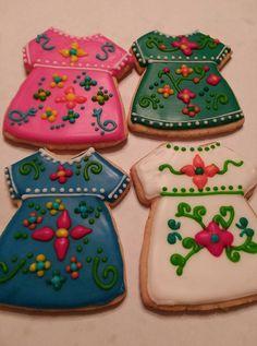 Wedding Fancy Cookies, Iced Cookies, Cute Cookies, Royal Icing Cookies, Cupcake Cookies, Sugar Cookies, Fiesta Cake, Fiesta Party, Mexican Birthday