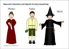 Rapunzel story cut-outs (SB3676) - SparkleBox