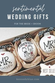 Searching for the perfect wedding gift idea for the bride and groom? Here's some of our favorite options, from personalized wedding gifts to unique options. Sentimental Wedding Gifts, Creative Wedding Gifts, Homemade Wedding Gifts, Personalized Wedding Gifts, Diy Wedding Presents, Bridal Shower Gifts For Bride, Wedding Gifts For Bride And Groom, Wedding Gifts For Couples, Wedding Ideas