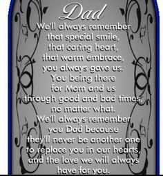 You are very much missed dad x