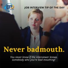 Don't badmouth former bosses, former employers, coworkers or anyone else. They'll want to know if you're someone who always looks to blame others. And they won't hire you because of this. Also, you never know if the interviewer knows somebody who you're bad mouthing!  #InterviewTips #jobseeker #jobhiring #hiring #jobinterviews #tipoftheday #tipoftheweek #thursdaymotivation #thursdaythoughts #tipsthursday #thursdaytips #philippines Blaming Others, Thursday Motivation, Job Interview Tips, Tip Of The Day, You Never Know, Jobs Hiring, Blame, Philippines, Thoughts