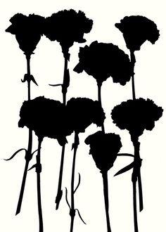 Carnations_Black - Art Print by Garima Dhawan