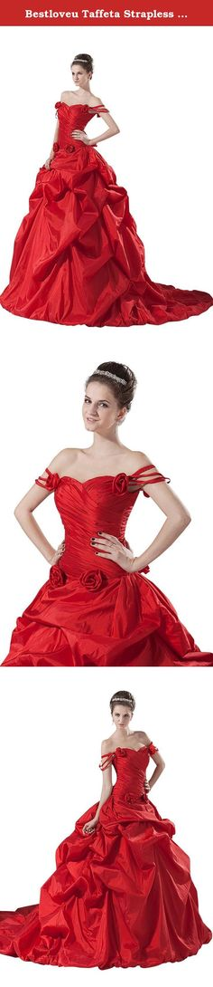 Bestloveu Taffeta Strapless Wedding Dresses Bridal Gowns (26, Red). Bestloveu New Evening Party Dress , In Stock size have 6,8,10,12,14,16,18 ,Dress closure back lace-up ,. our stock dresses size chart is : size 6 / XS (bust:82cm , waist:63cm , hips:87cm) , size 8 / S (bust:87cm , waist:68cm , hips:92cm) , size 10 / M (bust:92cm , waist:73cm , hips:97cm) , size 12 / L (bust:97cm , waist:78cm , hips:102cm) , size 14 / XL (bust:102cm, waist:83cm , hips:107cm) , size 16 / XXL (bust:107cm ...