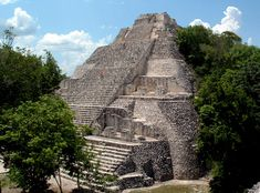 Tallest temple at the ruin of Becan, Campeche in the most southern part of the Yucatan penninsula.