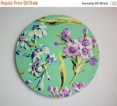 SALE -- Mouse Pad mousepad / Mat - Round - Amy Butler Love Bliss Bouquet purple