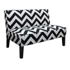 I pinned this Chevron Settee from the Courteney Cox: Curate for a Cause event at Joss and Main!