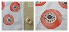hand printed tea towel tutorial @ larks & japes