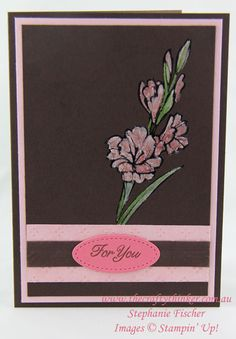 The Crafty Thinker: Stephanie Fischer - Independent Stampin' Up Demonstrator: Gift of love for you