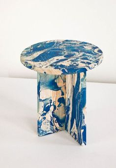 Écume side tables, made from enamel-painted beech wood. Furniture Inspiration, Design Inspiration, Creative Inspiration, Design Ideas, Painted Furniture, Furniture Design, Geometric Furniture, Deco Design, Decoration