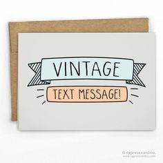Im hurrying snail mail thinking of you greeting card and retail a vintage text message card wholesale greeting m4hsunfo