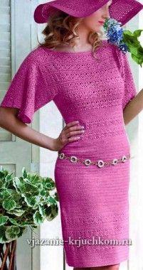Vestido de punto elegante con esquemas