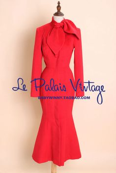Aliexpress.com : Buy FREE SHIPPING Le Palais Vintage limited edition chinese red retro elegant slim tail long red cashmere coat/70% cashmere overcoat from Reliable cashmere overcoat suppliers on Mr. and miss