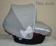 Conjunto de Saco de capazo, capota y bolso para Jané Matrix en tela espiguilla