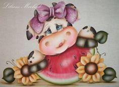 pintura em tecido vaquinha - Liliane Machado