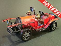 Handmade Antique Car Metal Car Toy Miniature by TheBlackHatDesign