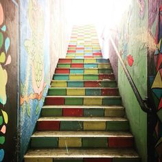 Stairway to train.  #stazione #roma #italia #ohmystreetart #loveisanowl
