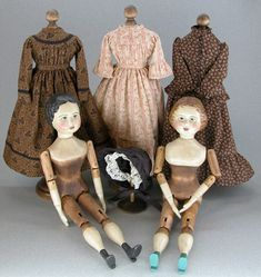 """These are the """"Springfield Wooden Dolls"""" I will soon be making. Victorian Dolls, Antique Dolls, Vintage Dolls, Pretty Dolls, Beautiful Dolls, Fabric Dolls, Paper Dolls, Doll Toys, Baby Dolls"""