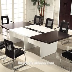 Latest Design Sectional Meeting Table Metal Legs Melamine Modular - Sectional conference table