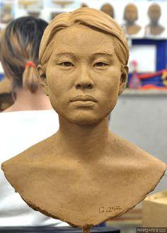 Art Doll Tutorial, Sculpture Head, Plaster, Figurative, Art Dolls, Sculpting, Korean, Faces, Carving