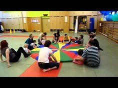 Dešťové kapičky - cvičíme s padákem - YouTube Music Activities, Basketball Court, Let It Be, Tv, Children, Fitness, Sports, Youtube, Songs
